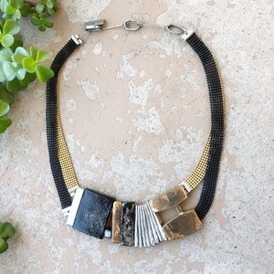 Anne-Marie Chagnon Modern Asymmetrical Necklace